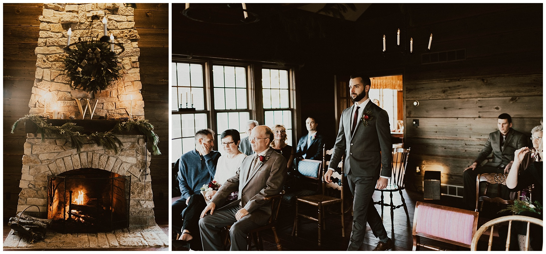 Hannah + Brian    Christmas Cabin Wedding – Lauren F.otography 4c131068723